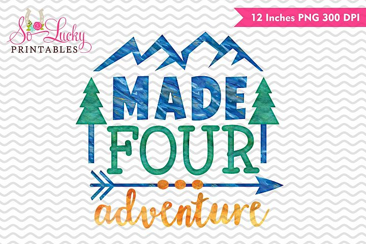 Made four adventure watercolor sublimation design