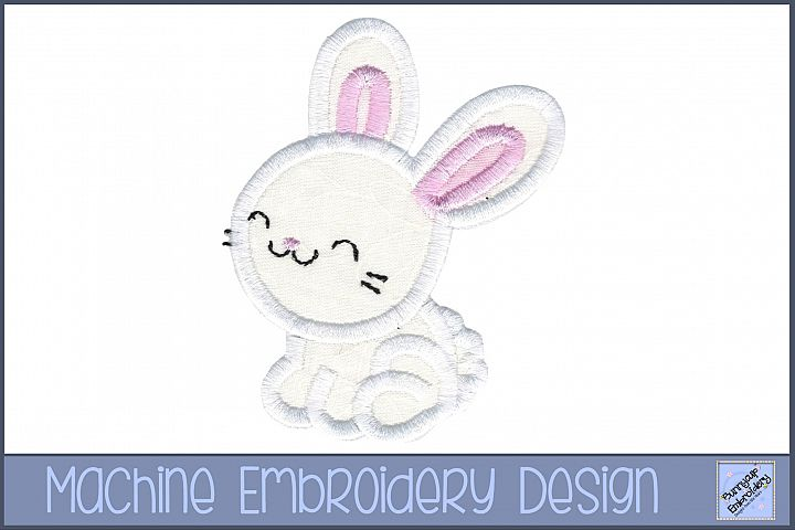 Boy Bunny Applique Embroidery Design