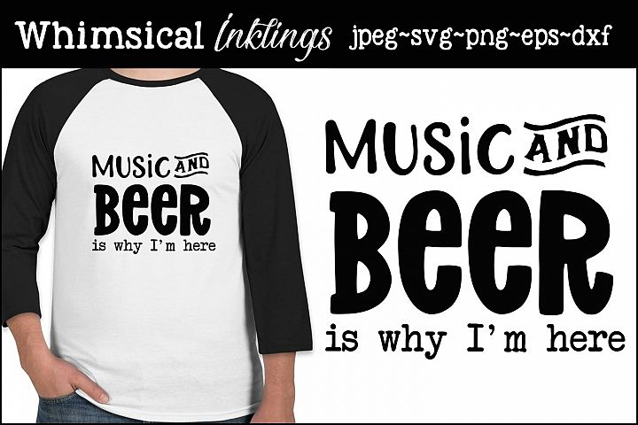 Music and Beer SVG