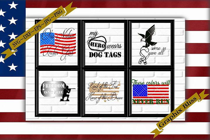 4th Of July Memorial Day Patriotic Holiday Bundle