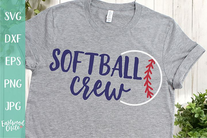 Softball Crew - A Softball SVG Cut File for Crafters
