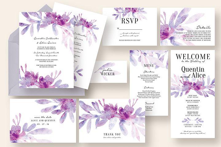 Dreamy Floral & Leaves Wedding Suite