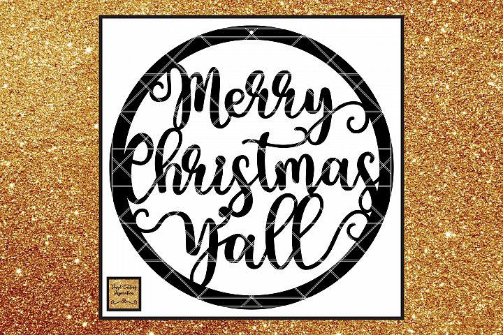 Farmhouse Christmas Svg, Merry Christmas Yall Svg, Christmas
