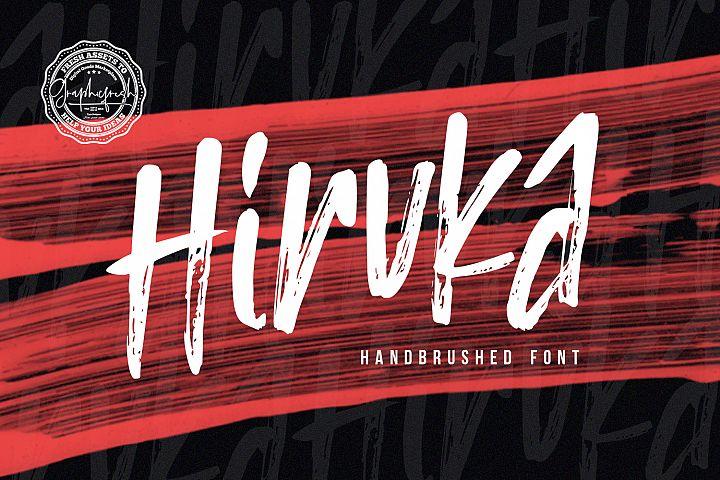 HIRUKA - Handbrushed Font