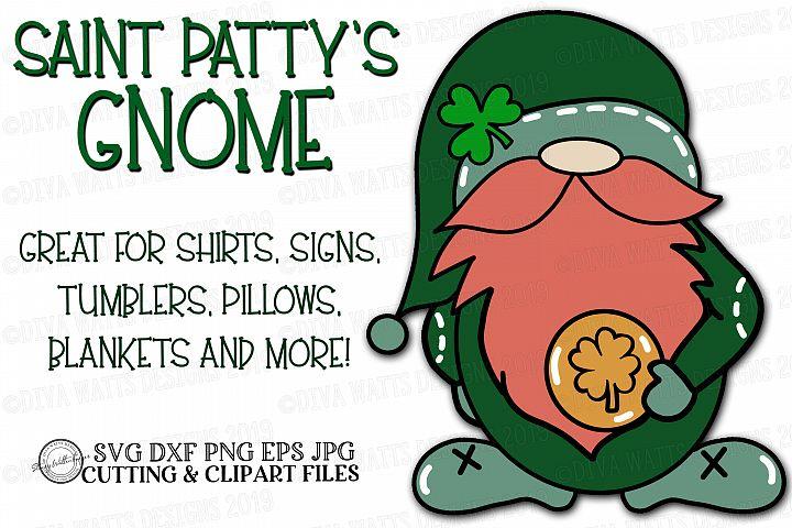 Saint Patricks Day Leprechaun Gnome Cutting File SVG DXF