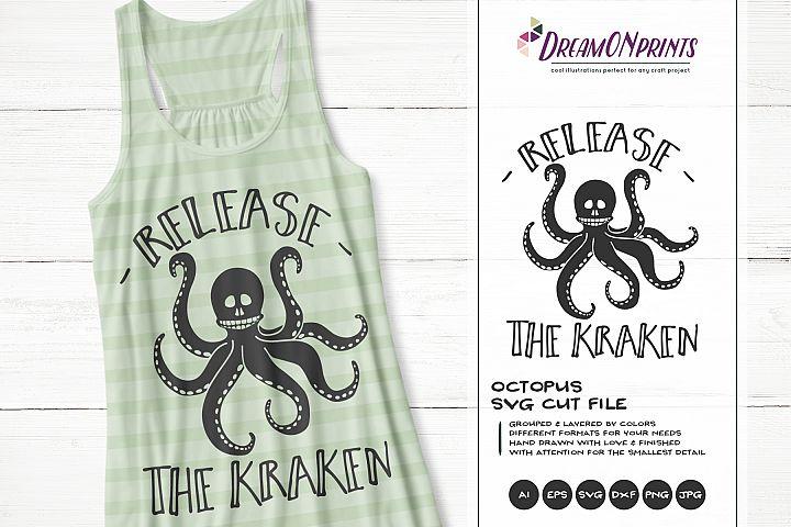 Octopus SVG | Release the Kraken SVG Cut Files