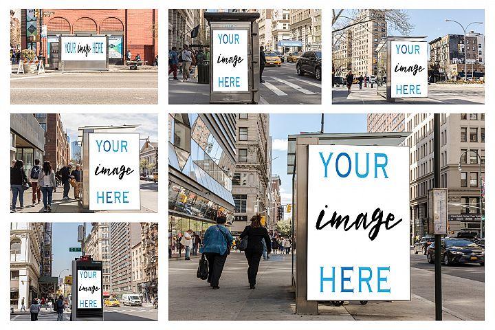 Set of 11 advertising billboard