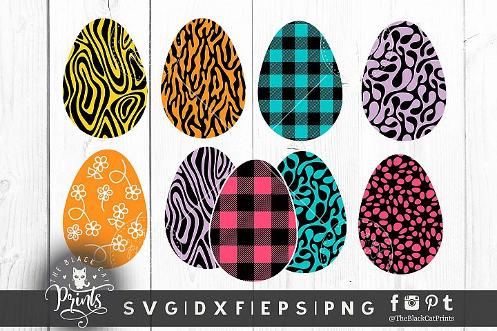 Easter Eggs clipart SVG DXF EPS PNG
