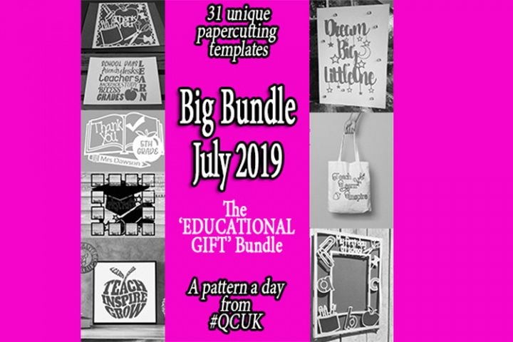 BigBundle JUL19 - 31 x Educational Papercutting Templates