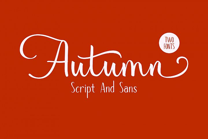 Autumn Mood // Font Duo
