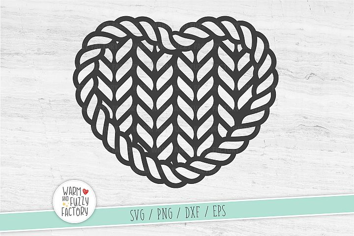 Heart svg, Knit svg, Chrochet svg, Knitted heart svg