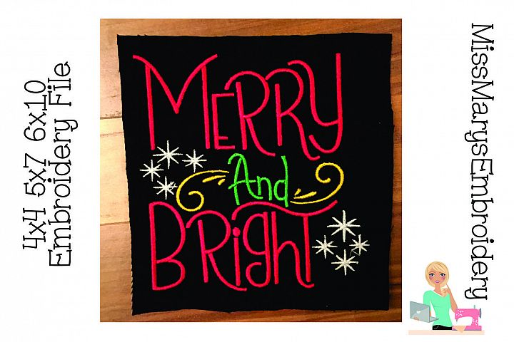 Merry and Bright Embroidery File