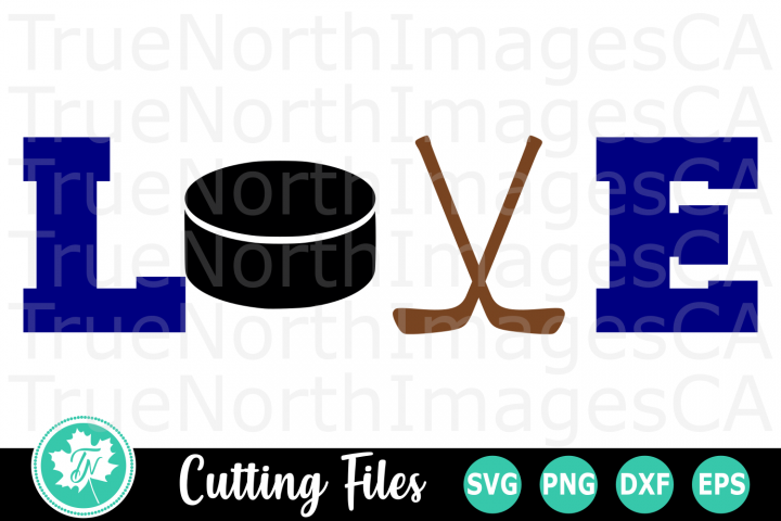 Love Hockey - A Sports SVG Cut File