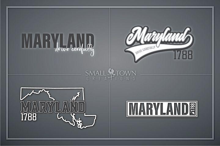 Maryland, Drive Carefully, Logo, PRINT, CUT & DESIG