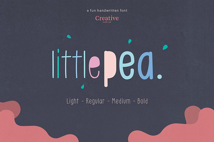 Little Pea - Handwritten font