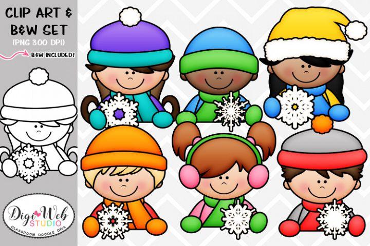 Clip Art / Illustrations - Snowflake Topper Kids