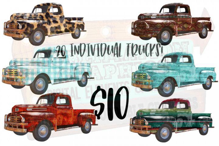Antique Truck Bundle Sublimation Digital Download