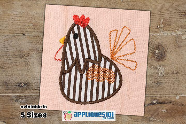 Cartoon Hen Machine Embroidery Applique Design - Hens