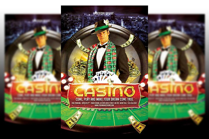 Casino Flyer template #2
