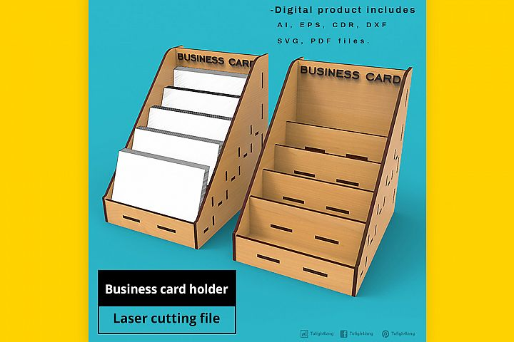 Business Card Holder - laser cut file
