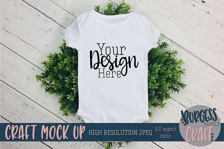 Easter Spring Baby bodysuit Craft mock up |High Res JPG
