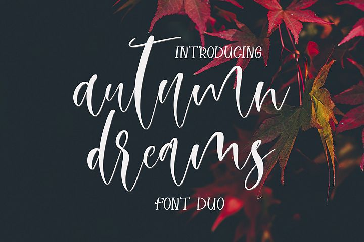 Autumn Dreams Font Duo
