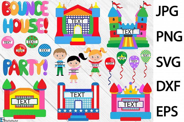 Split Bounce House Party - Clip art / Cutting Files 298c