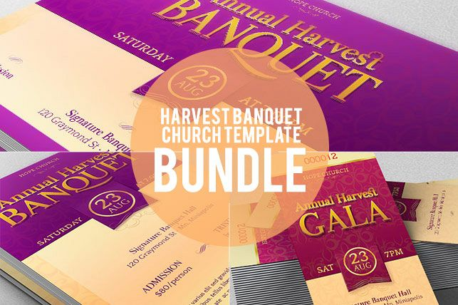 Harvest Banquet Template Bundle