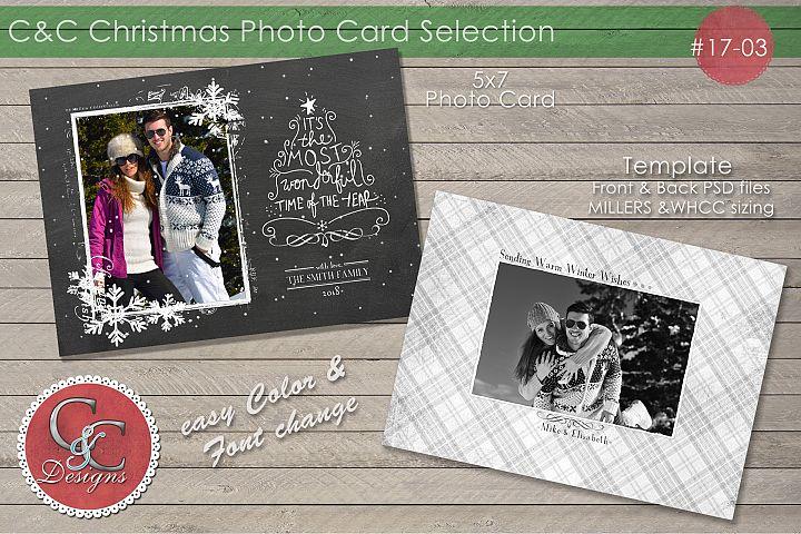 Christmas Photo Card 17-03