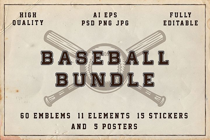 Baseball emblems bundle