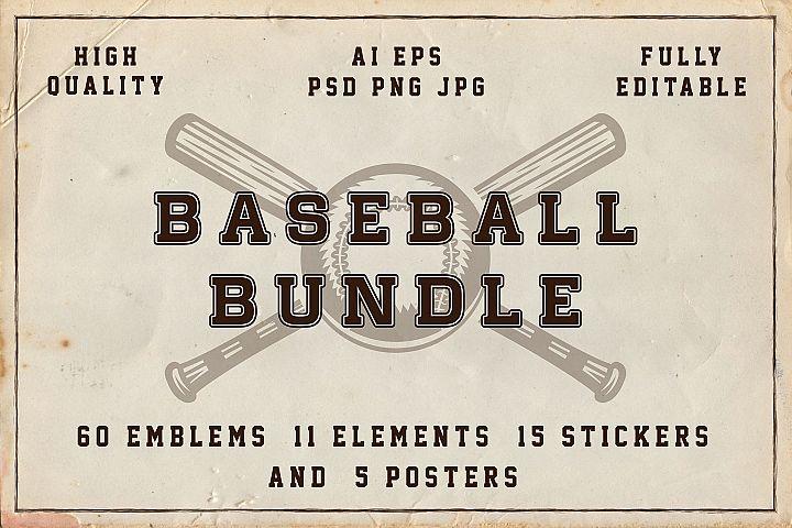 Baseball emblems bundle