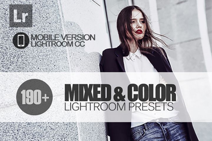 195 Mixed & Color Lightroom Mobile bundle Presets