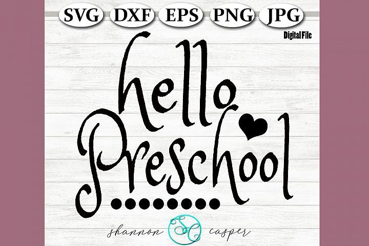 Back to School | Preschool SVG