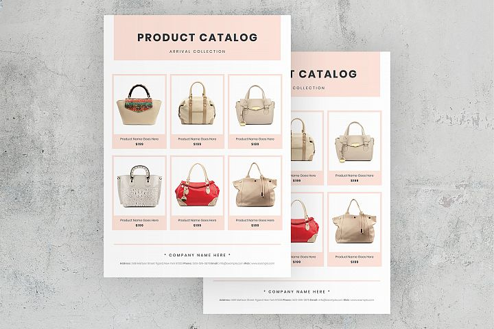 Elegant Product Catalog Flyer Template