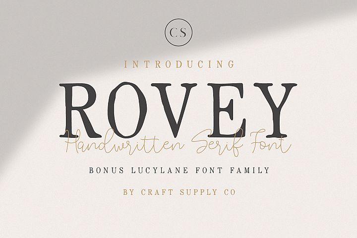 Rovey - Handwritten Serif Font with Bonus