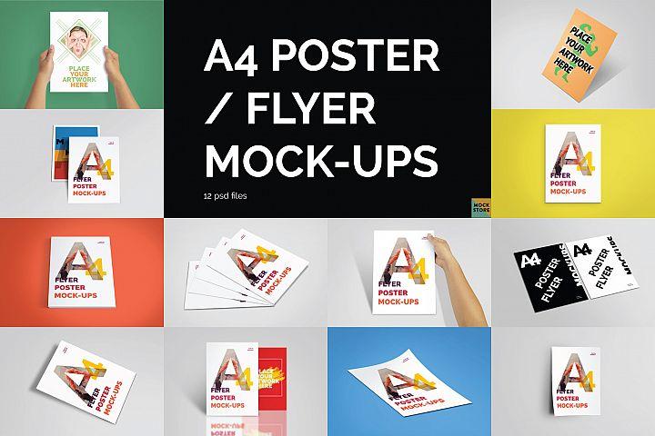 A4 Flyer / Poster Mockups