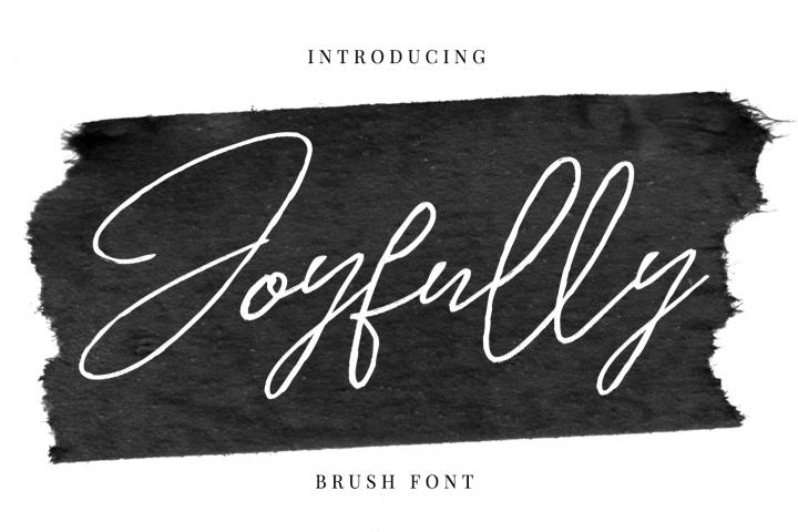 Joyfully - Brush font
