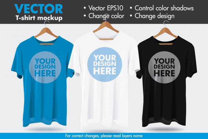 Vector Hanger Tshirt Mock-up Mockup Template