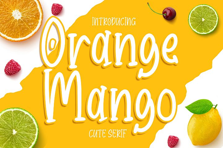 Orange Mango - Cute Serif Font