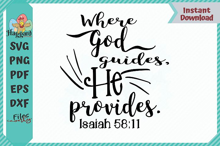 HHD Where God Guides He Provides SVG