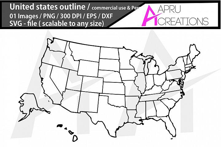 USA map/USA outline map