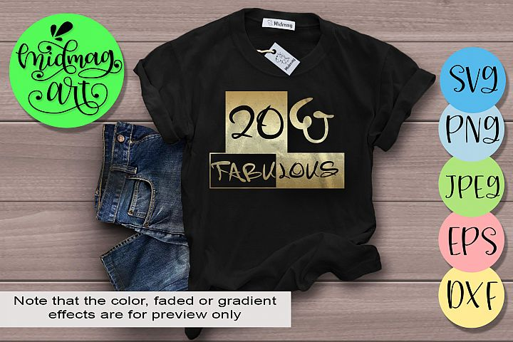 20 and fabulous svg, 20th birthday svg