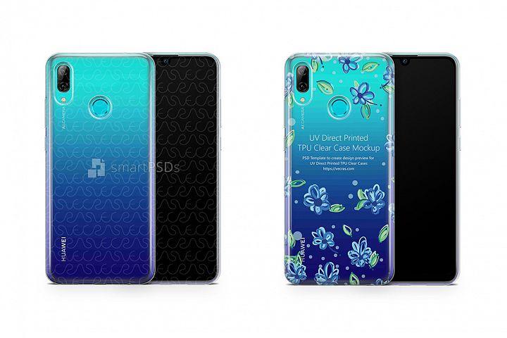 Huawei P Smart UV TPU Clear Case Mockup 2019
