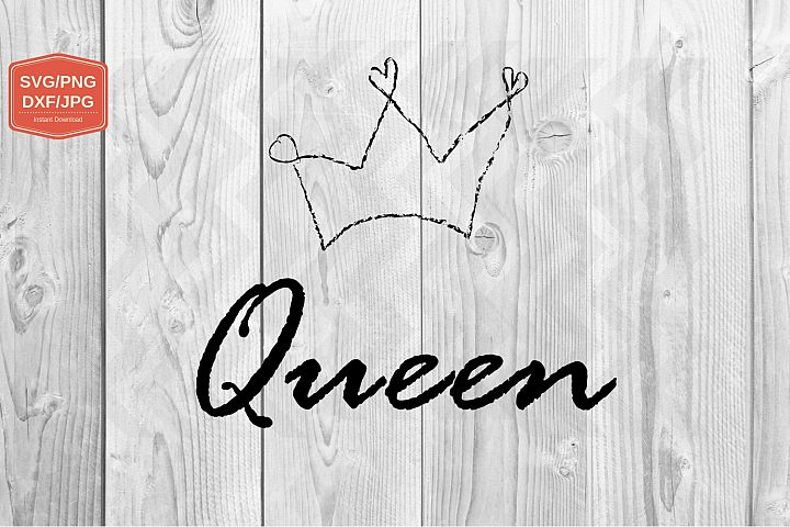 Queen. svg file, PNG JPG DXF, file for print