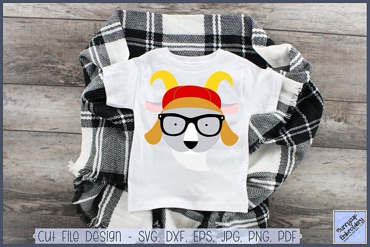 Hipster Goat - SVG, Clipart, Printable