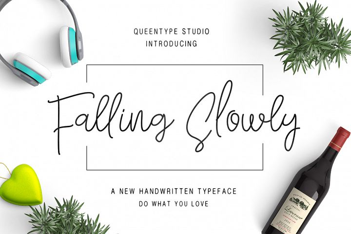 Falling Slowly - Free Font of The Week Font