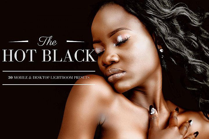 30 Hot Black Mobile & Desktop Lightroom Presets, dark skin