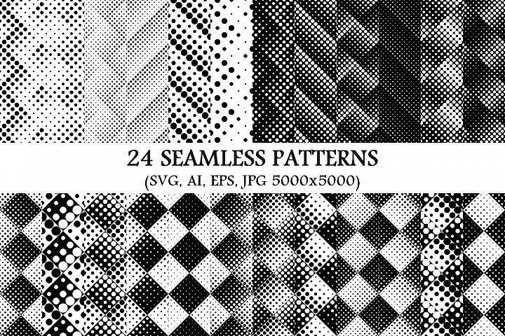 24 Seamless Dot Patterns