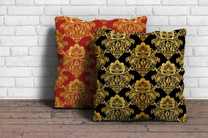 Floral gold seamless pattern. Hohloma. example image 7