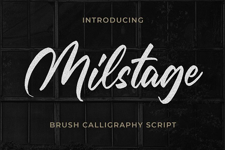 Milstage - Brush Calligraphy Script